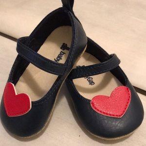 Navy Heart Mary Janes